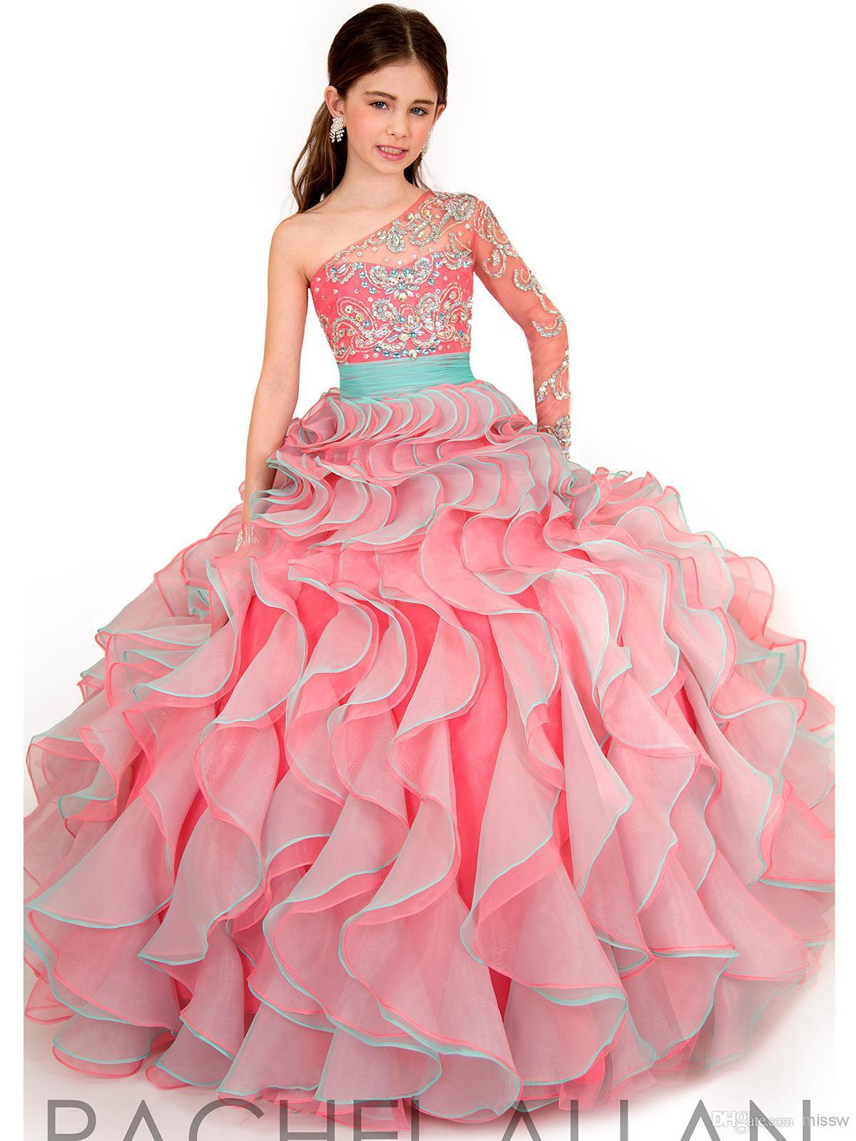 Hot Sale 2016 Ball Gown Little Girls Pageant Dresses One ...