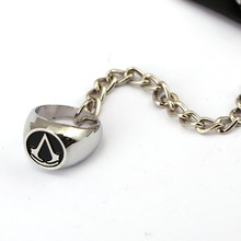 Assassins Creed Leather Bracelet with Ring