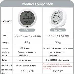 Image 3 - Youpin Qingping dijital Bluetooth termometre ve higrometre elektronik mürekkep ekran 30 gün veri otomatik kayıt ev uygulaması