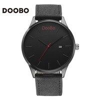 DOOBO Men Watch Casual Business Men Male Sport Type Military Watches PU Leather Quartz Wrist Watch