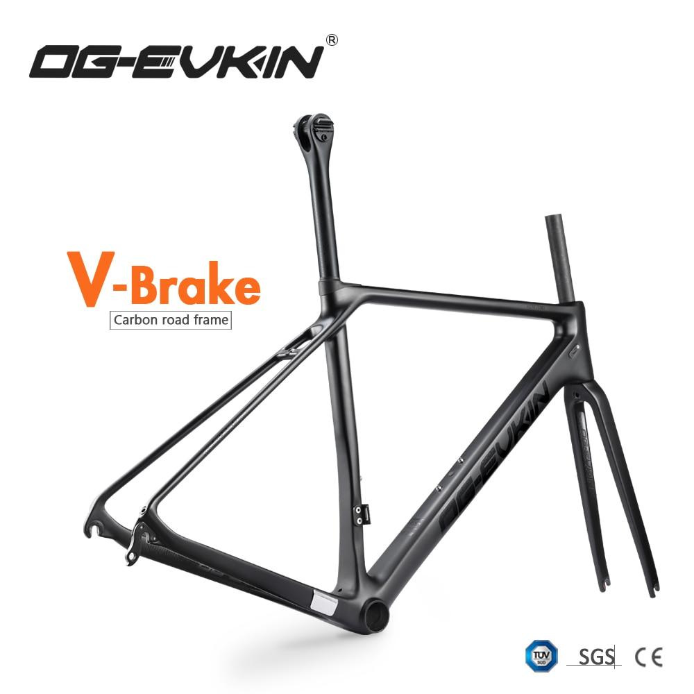 NEW T1000 Carbon Road Bike Frame V Brake UD Matt BB86 Frame Road Carbon Bicycle 1-1/8