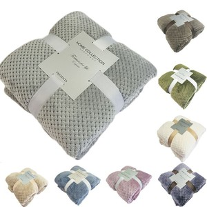 Japan Style Soft Waffle Flannel Blankets For Beds Solid Color Summer Throw Winter Sofa Cover Bedspread Chunky Kit Plaid Blankets(China)