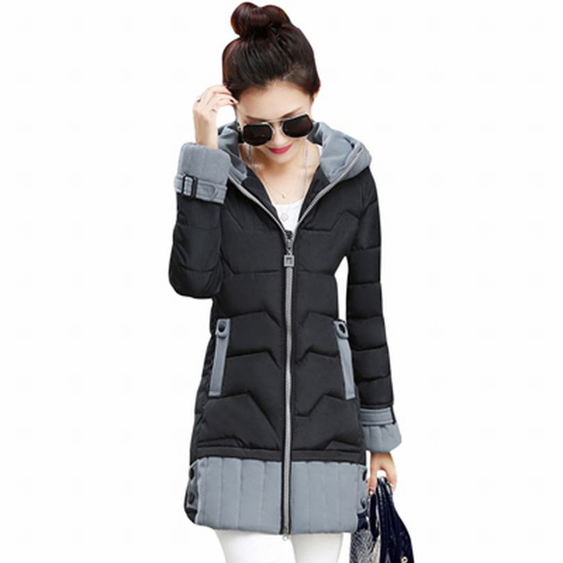 Hot Selling Ladies Cotton Padded Jacket Coat 2016 Autumn Winter Overcoat Hooded Womens Warm Coats Brand Outerwear CT209