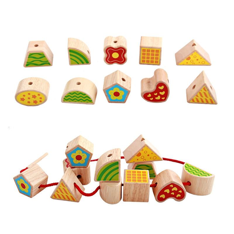 Perle en bois labyrinthe jouets éducatifs pour enfants bébé en bois jouet enfant en bois jouets cadeau d'anniversaire - 2