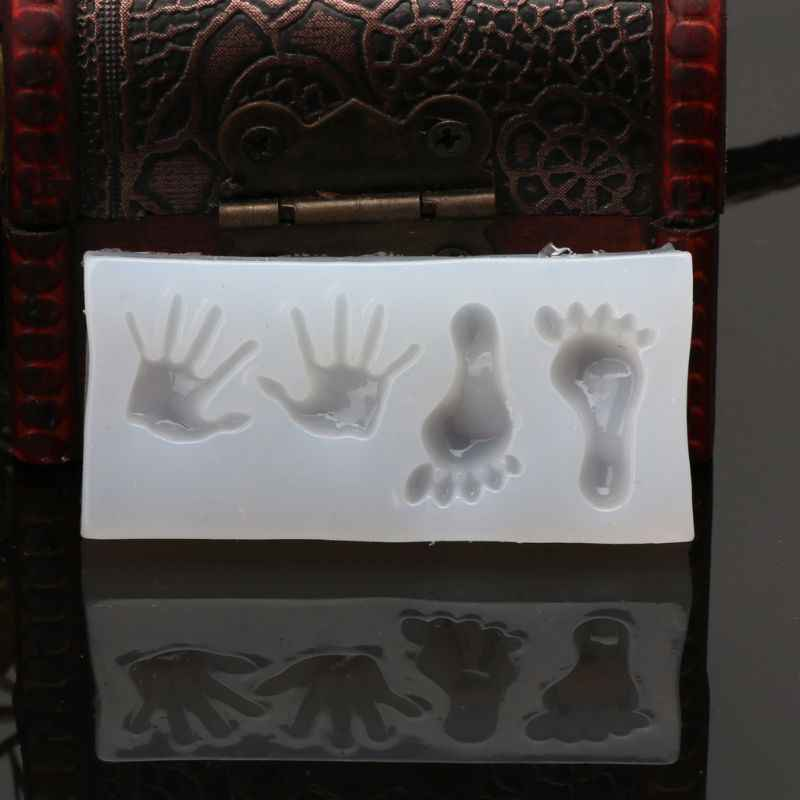 Tongkat Sihir Cetakan Silikon Kunci Bulan Bintang Jantung Bentuk Stick Cetakan Bayi Kaki Cetakan DIY Perhiasan Kerajinan Dekorasi Epoxy resin Cetakan