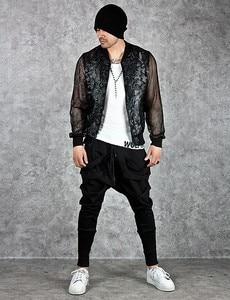 Image 2 - Mode Harembroek Mannen Hip Hop Baggy Cross Techwear Broek Mannelijke Zwarte Trend Lint Streetwear Casual Joggers Broek Man