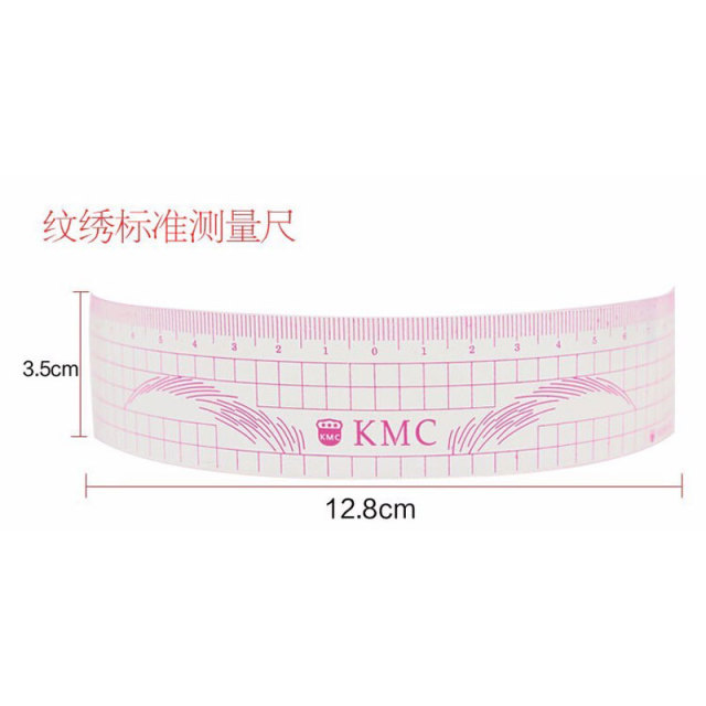 1pcs Permanent Makeup Stencils Plastic Eyebrow Ruler KMC Tattoo Cosmetic Shaping Tool For The Beginers 3