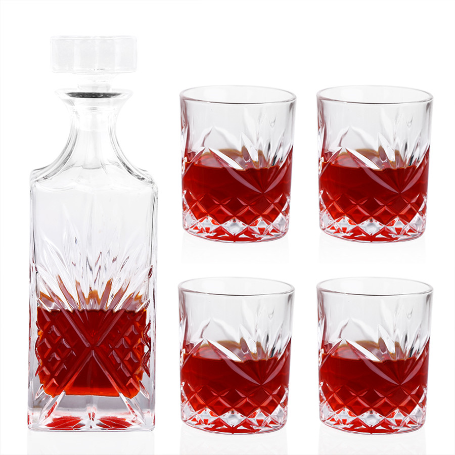 700ML High-end Whiskey Decanter Whiskey Glass Lead-Free for Wine Whiskey Liquor Drink for Home Bar Party Wedding Wine Bottle
