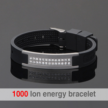 Scalar Quantum Bio Elements Energy Bracelet For Man Power Bands Energy Bracelets With Keep Balance Magnetic Silicone Wristband