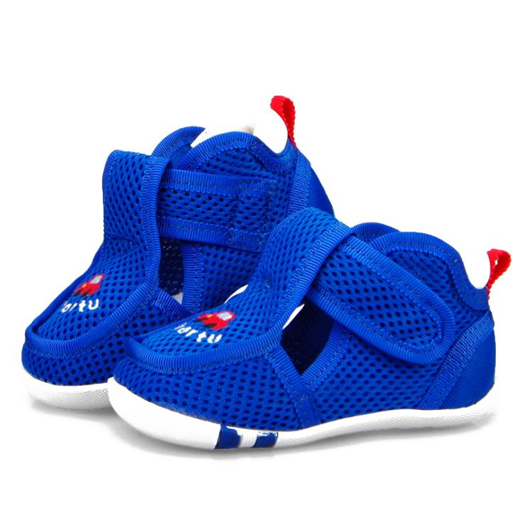 Crtartu Summer Style 1 Pair Blue mesh yarn + rubber Car embroidery mesh breathable baby step shoes Baby Shoes