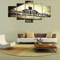 Frame Wall Art Poster Modern 5 Panel You Will Never Walk Alone Living Room Canvas HD Print Painting Modular Home Decor Pictures 4