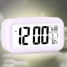 Электрические настольные часы электронный будильник цифровой большой светодиодный экран настольные часы время передачи данных Календарь настольные часы