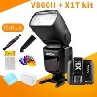 Godox Вспышка V860II X1T комплект литий ионный Батарея ttl 1/8000 s HSS для Canon 5D серии Nikon D810 sony A7 fujifilm lumix GH5 камеры