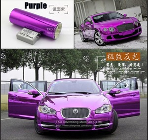 Image 5 - Free shipping chrome mirror vinyl film Chrome mirror Sticker with air free bubbles with size:10/20/30/40/50/60x152CM/LOT