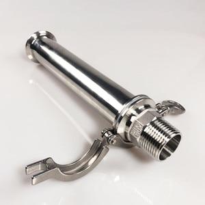 "Image 5 - WZJG OD 2"" 51MM Sanitary Spool Tube With 64MM Ferrule Flange+Moonshine+Tri Clamp Pipe Fittings Length 4""/6""/8""/12""/18""/24"""