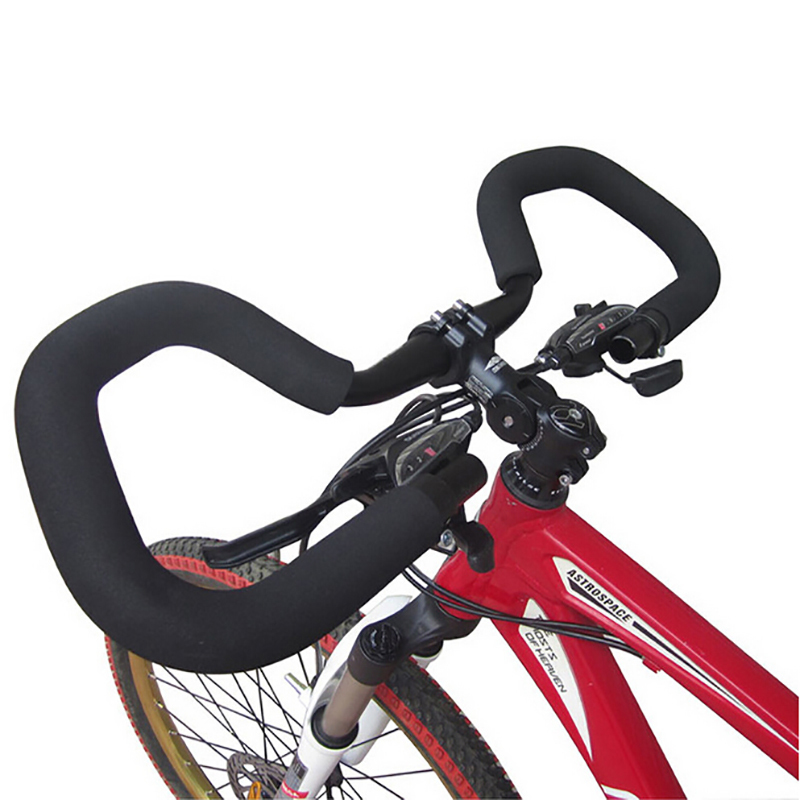 Bicycle Handlebar Mountain Road Bike Butterfly Handlebar Bicycle Bike Fixed Gear Rebuilding Aluminum 25.4/31.8 *420mm with cover