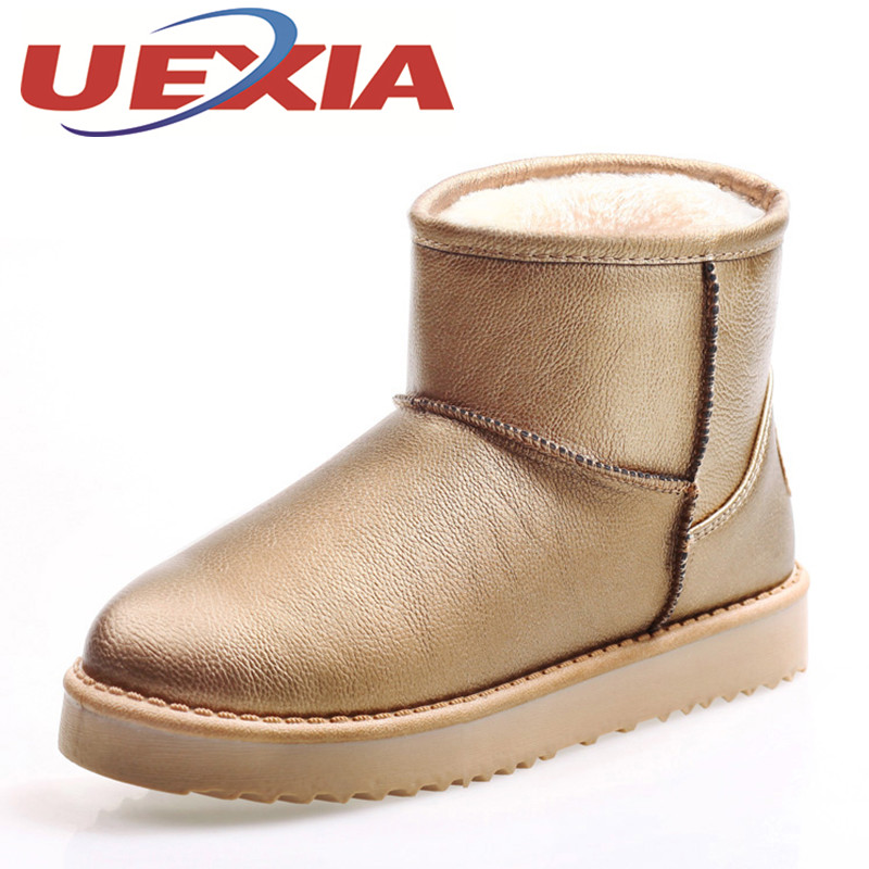 Women Snow Boots Winter Warm Boots Thick Bottom Platform Waterproof Ankle Plush Boots For Girls Fur Cotton Shoes Botas Mujers  2017 new women snow boots winter fox fur boots suede leisure shoes thick warm short boots plush girls fashion boots black brown