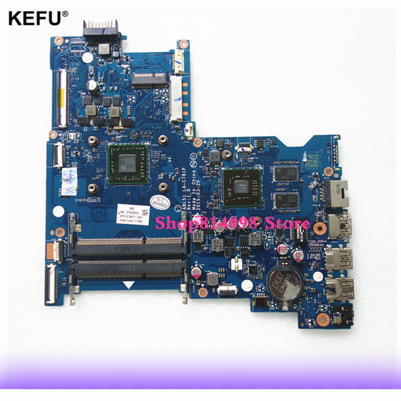 KEFU High Quality Laptop Motherboard For HP Notebook 15-AF Series ABL51 LA-C781P 813971-501 With A8-7410 CPU HD 8600 2GB GPU nokotion 814611 001 818074 001 for hp 15 af series laptop motherboard abl51 la c781p cpu onboard mainboard full test
