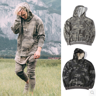 Urban Clothing Oversized Mens Camo Hoodies with a big Hood fashion style camouflage  hoodie swag skateboard e3a89dbd55