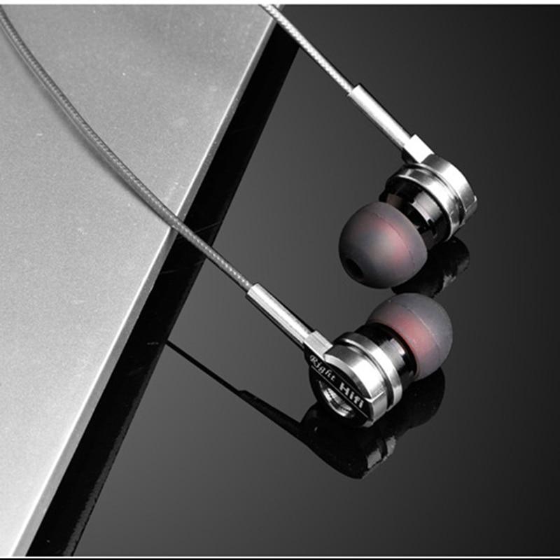 Kovinske slušalke 3,5 mm Hifi z žičnimi slušalkami z mikrofonom - Prenosni avdio in video - Fotografija 3