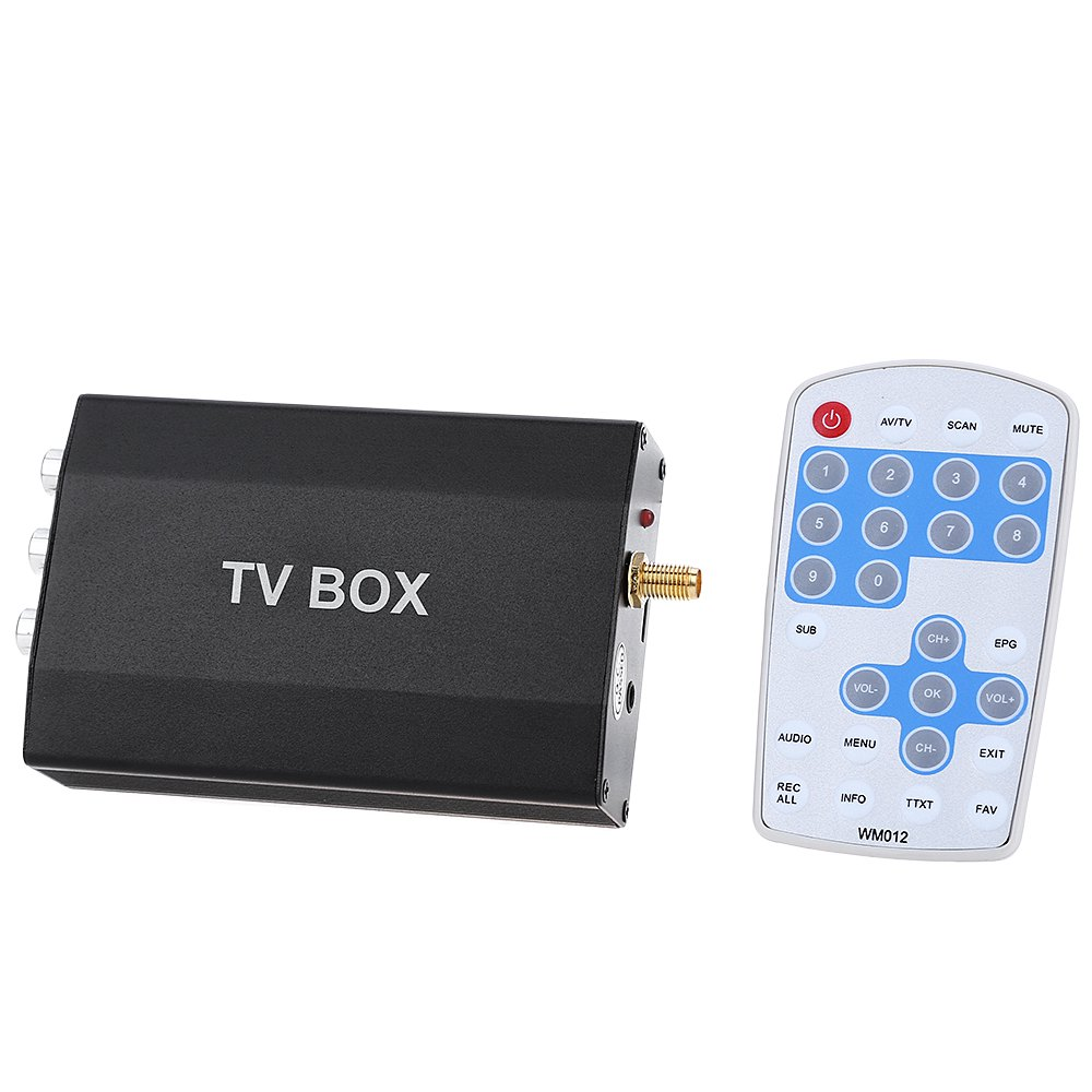 imágenes para Car TV Digital Multi-canal Móvil Mini Sintonizador Analógico Canal Receptor de Señal Digital Soporte de Control Remoto de Función Completa