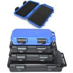 Caixa de armazenamento resistente à prova de choque hermético recipiente caixa de ferramentas de plástico à prova dwaterproof água caso de segurança queda com espuma pré-cortada