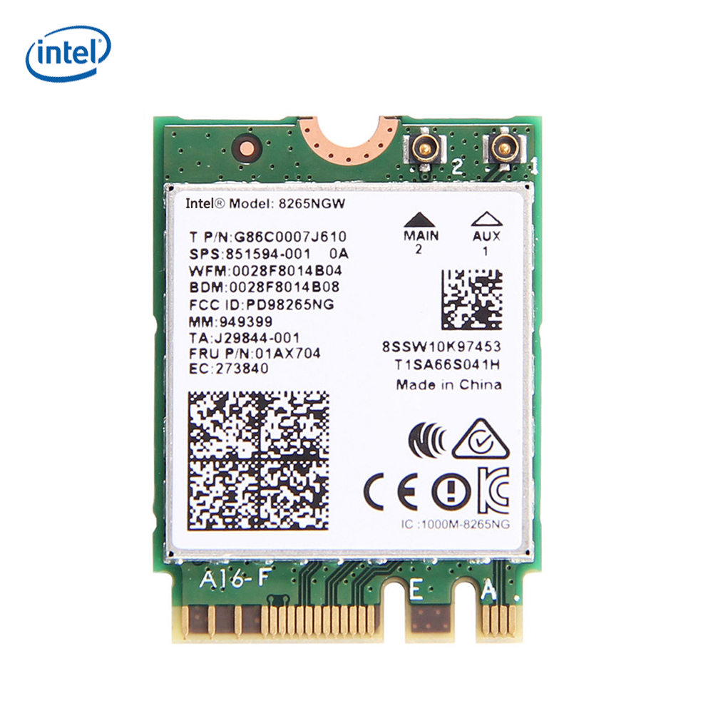 Intel Dual Band Wireless Wifi Card 8265 AC 8265 8265NGW 867Mbps Bluetooth 4.2 8265 NGFF Wifi Wlan Network Card 2.4G/5G