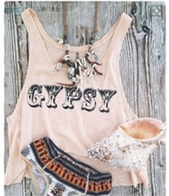 New Women Summer Tanks Top Casual Sleeveless Round Neck Loose T Shirt Ladies Vest Singlets Exotic Gypsy Style Crop Tops