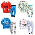 2016 теплые детская одежда наборы ребенок ткань зима термобелье дети кальсоны мальчиков костюм кожи long john набор символов рубашка
