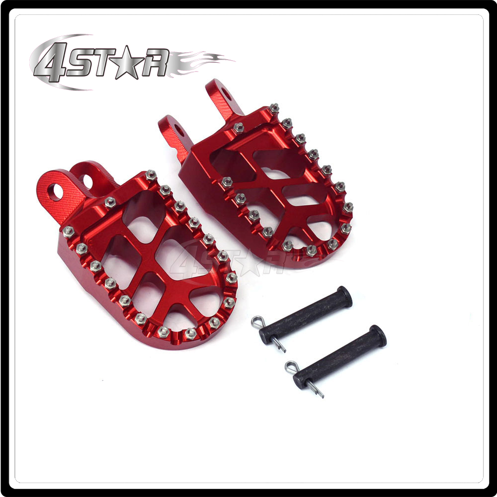 Foot Pegs Pedals Rests For HONDA CR80 XR250 XR400 1996 1997 1998 1999 2000 2001 2002 2003 2004 2005 XR350R XR600R XR650L XR650R ownsun innovative super cob fog light angel eye bumper cover for skoda fabia scout