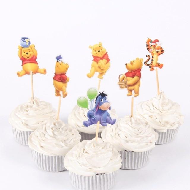 72pcslot Balloon Animal Cupcake Topper Horse Cake Picks Birthday