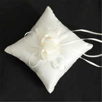 Free Shipping Casamento 1Pc Ivory Satin Wedding Ring Pillow Wedding Party Decoration Supplies Wedding Accessories