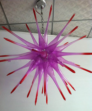 Purple and Red Hand Blown Glass Chandelier Special American Chandelier Lighting for New House Decoration hot sale colorful hand blown glass chandelier for new house decoration