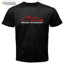 Новая мода Мужская с коротким рукавом O-образным вырезом Уличная одежда Майкл Шумахер с логотипом  Лучший!