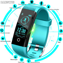 e7c3cbf27 BANGWEI جديد ساعة ذكية الرجال ضغط الدم مراقب معدل ضربات القلب جهاز تعقب  للياقة البدنية النساء Smartwatch الرياضة ووتش ل ios الرو.