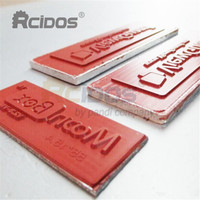 Silicone bronzing die,RCIDOS customize Silica gel flat hot foil stamping cliche,arc silicone heat transfer mold,
