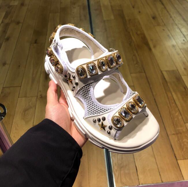 Carole Levy High Quality Leather Shoes Woman Sexy open Toe Crystal Embellished Flat Sandal Cutouts Rhinestones Dress ShoesCarole Levy High Quality Leather Shoes Woman Sexy open Toe Crystal Embellished Flat Sandal Cutouts Rhinestones Dress Shoes