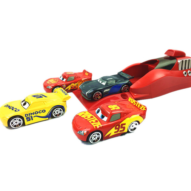5Pcs/set Disney Pixar Cars 3 Lightning McQueen 1:55 Diecasts Toy Vehicle Plastic Model Cars Christmas Gift Toys For Kids Boy Toy