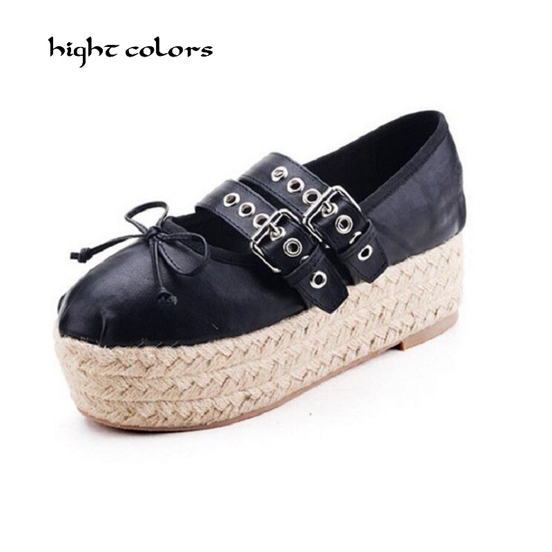 33~40 Brand New Ballet Flats Sweet Bowtie Korean Style Double Buckle Fashion Ballerinas Espadrilles Shoes for Women Sale G125 popular korean style double layered white lace choker for women