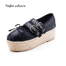 33~40 Brand New Ballet Flats Sweet Bowtie Korean Style Double Buckle Fashion Ballerinas Espadrilles Shoes for Women Sale G125