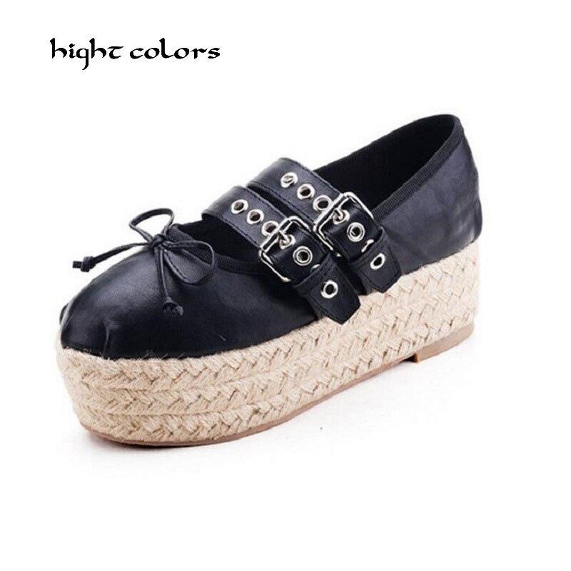Ayakk.'ten Kadın Topuksuz Ayakkabı'de 33 ~ 40 marka Yeni Bale Daireler Tatlı Papyon Kore Tarzı Çift Toka Moda Balerinler Espadrilles Ayakkabı Kadınlar için Satış g125'da  Grup 1