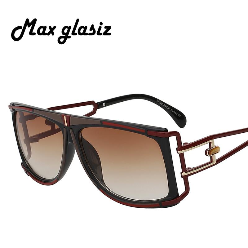 ff00e8f25c Top quality men sunglasses 2017 brand design big square metal shaped sun  glasses women luxury unisex UV occhiali da sole