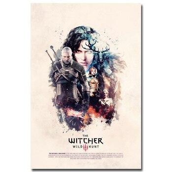 Шелковый Плакат Гобелен Ведьмак 3: Дикая Охота Вариант 5