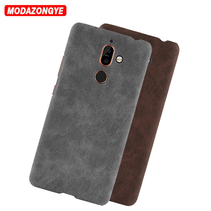 For Nokia 7 Plus Case Nokia 7Plus Case Luxury Hard PU Leather Phone Case For Nokia 7 Plus Nokia7 TA-1046 TA-1055 Case Back Cover