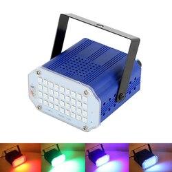 7 цветов 36 светодиодный DJ диско Звук Активированный лазерный проектор стробоскоп вспышка Lumiere сценическое rgb-освещение эффект лампы музыка ...