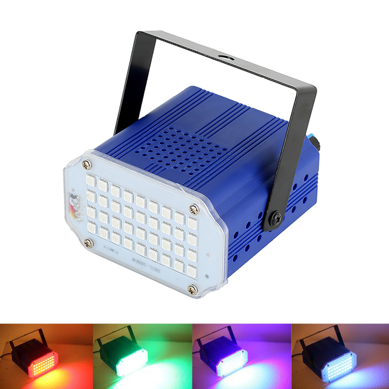 7 colores 36 LED DJ Disco sonido activado láser proyector estroboscópico Flash Lumiere RGB escenario iluminación efecto lámpara música fiesta Luz