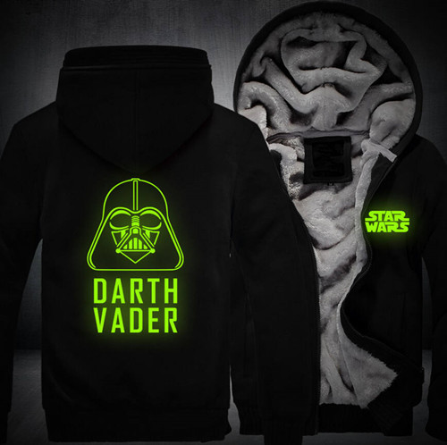 Free shipping Star Wars Darth Vader print hoodies men 2017 Fashion  Winter Casual Men's Jackets Patchwork Mens Coats plus size