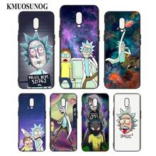 Silicone Case For OnePlus 5T 6 6T Printing Pattern Black Soft Phone Cover Rick and Morty Style