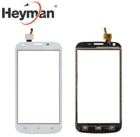 Heyman Màn Hình Cảm Ứng đối với Huawei Ascend Y600-U20 Dual Sim Digitizer Glass Bảng Điều Chỉnh Kính Phía Trước Ống Kính Cảm Biến phụ tùng Thay Thế