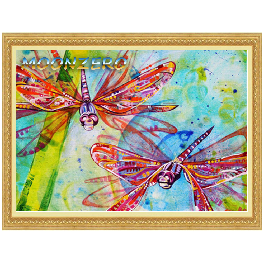 Dragonfly arts and crafts - Diy Diamond Painting Cross Stitch Dragonflies Embroidery 100 Full Crystal Mosaic Of Rhinestone Handicraft Home